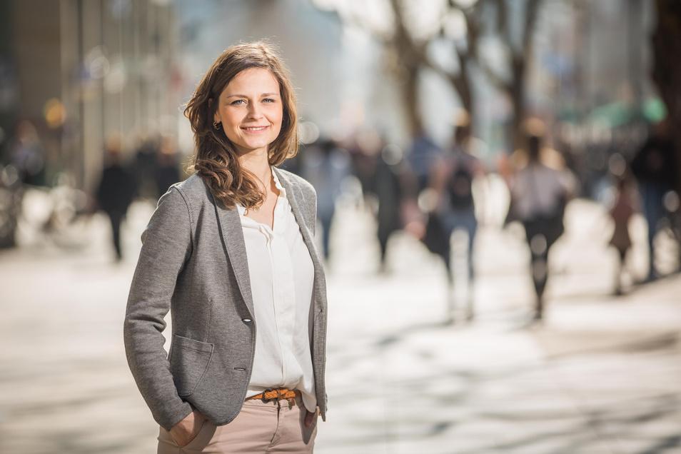 Friederike Wachtel ist die Dresdner Citymanagerin.