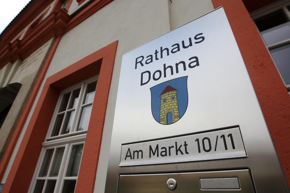 Im Dohnaer Rathaus gibt es seit über zehn Jahren regelmäßig Ausstellungen.