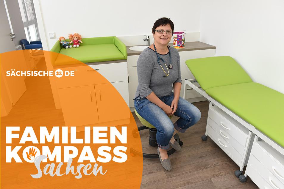 Hausärztin Maika Jorgel in ihrer Praxis in Geising.