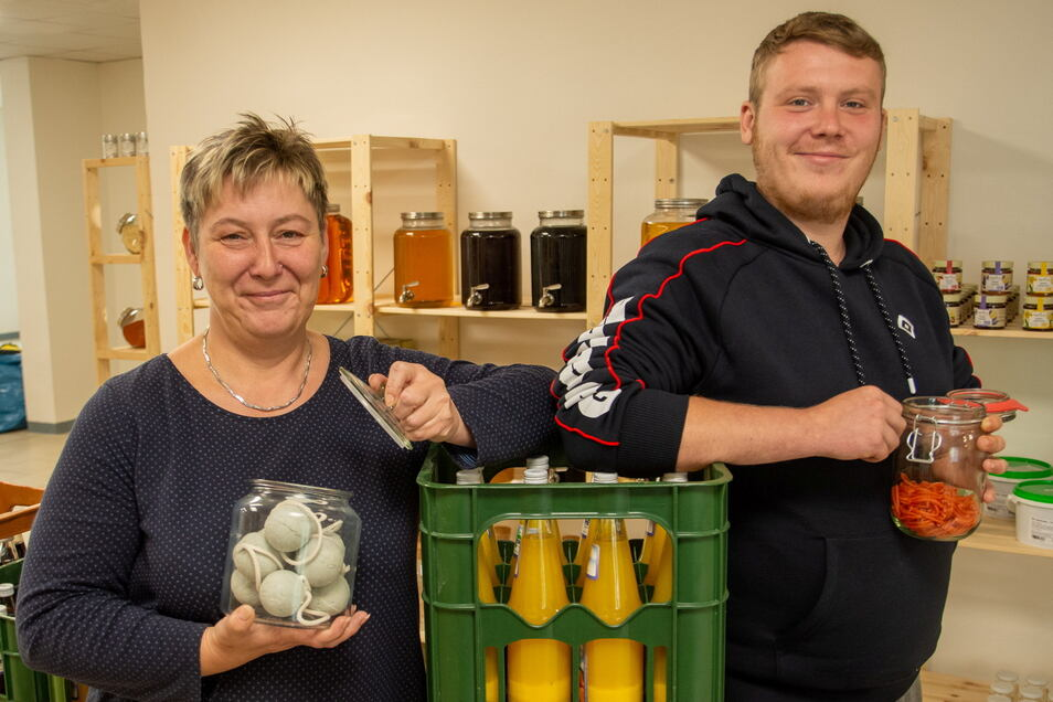 Antje Dietrich und Sohn Julius Wurm eröffnen am 1. September in Neukirch einen Unverpackt-Laden.