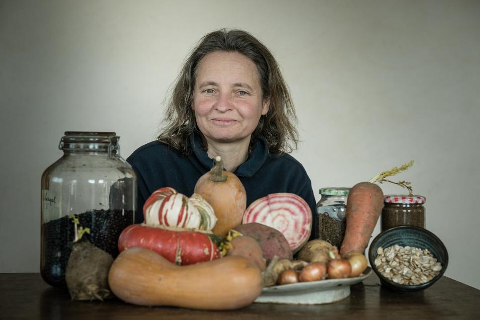 Milana Müller aus Tharandt organisiert in der Interessengemeinschaft Lebendige Vielfalt die Saatguttauschbörsen.