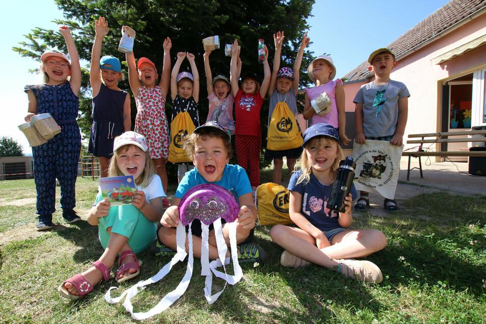 Die Mädchen und Jungen der Kita Zwergenland in Lüttewitz haben ihr Abfallaufkommen reduziert, Müll für Basteleien verwendet, ein Umweltprogramm einstudiert und mit all dem einen Preis gewonnen.