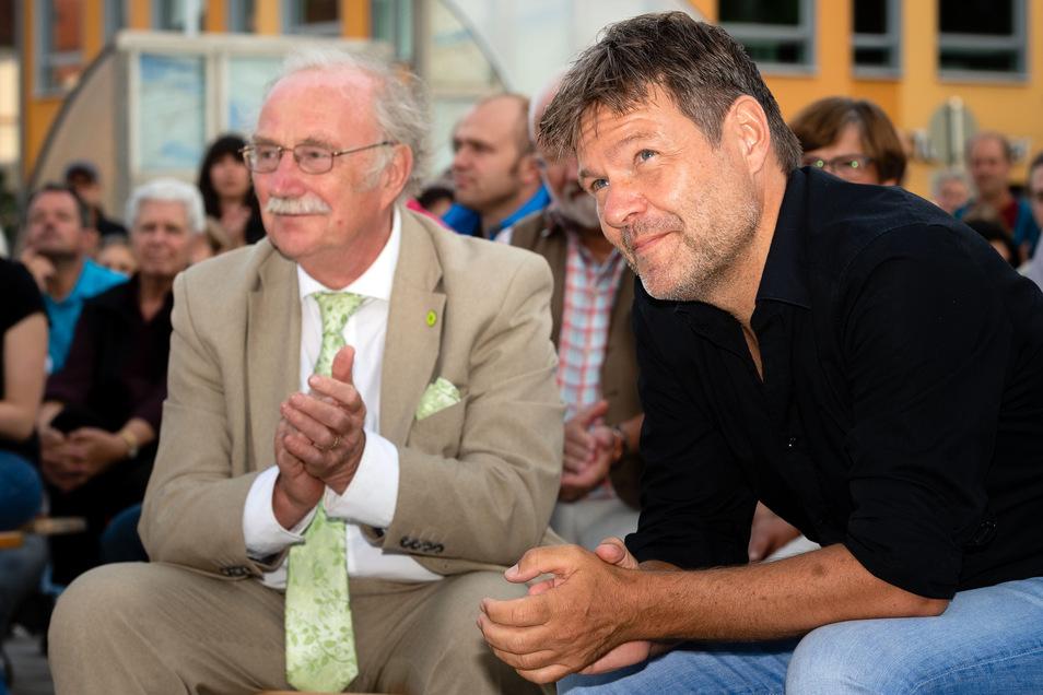 Wahlkampf auf dem Kornmarkt in Bautzen: Grünen-Chef Robert Habeck.