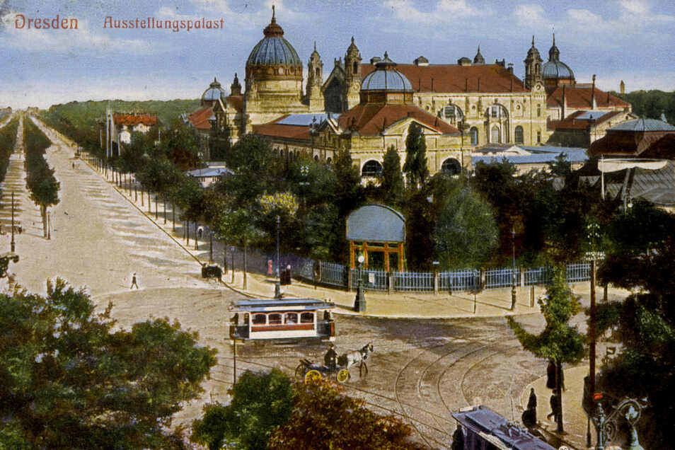 Zu Beginn des 20. Jahrhunderts standen am Stübelplatz viele Bäume.