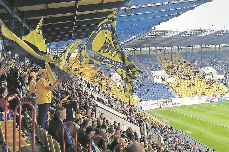 Das Stadion von FK Teplice noch unter Normalbedingungen.
