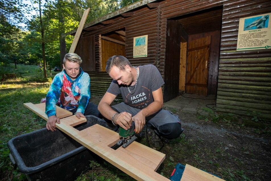 """Im Sommer waren Jugendliche aus dem Projekt """"StandUp"""" an der Wanderhütte unterhalb des Ungers aktiv."""