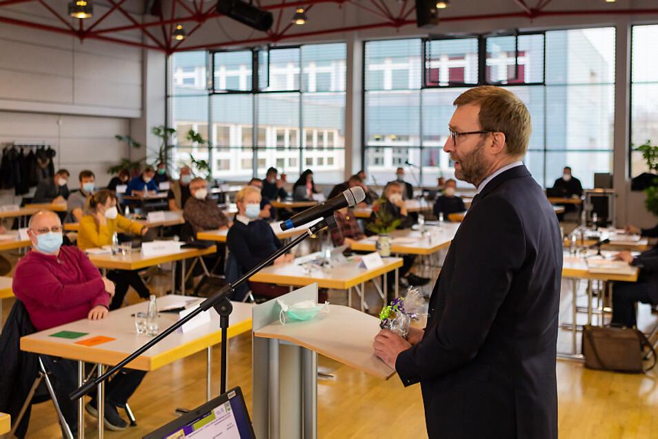 Jörg Scharfenberg verabschiedete sich am Dienstag im Stadtrat.