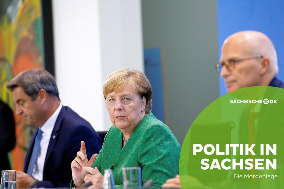 Bundeskanzlerin Angela Merkel beriet gestern mit den Ministerpräsidenten über das weitere Vorgehen gegen die Corona-Pandemie.