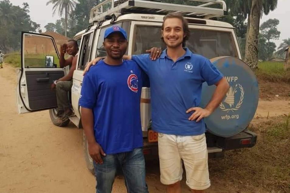 Benjamin Scholz, in Dresden aufgewachsen, war für das Welternährungsprogramm schon in Mwetchi in der Demokratischen Republik Kongo im Einsatz. Jetzt arbeitet er in Jordanien.
