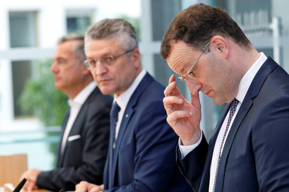 Appell zur Grippeimpfung: RKI-Chef Lothar Wieler und Gesundheitsminister Jens Spahn