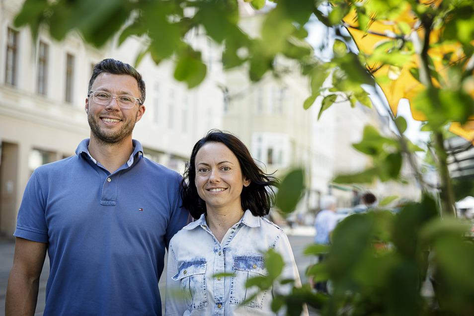 Piotr und Katarzyna Palys aus Zgorzelec: Sie liefern Obst und Gemüse an Görlitzer Haustüren.