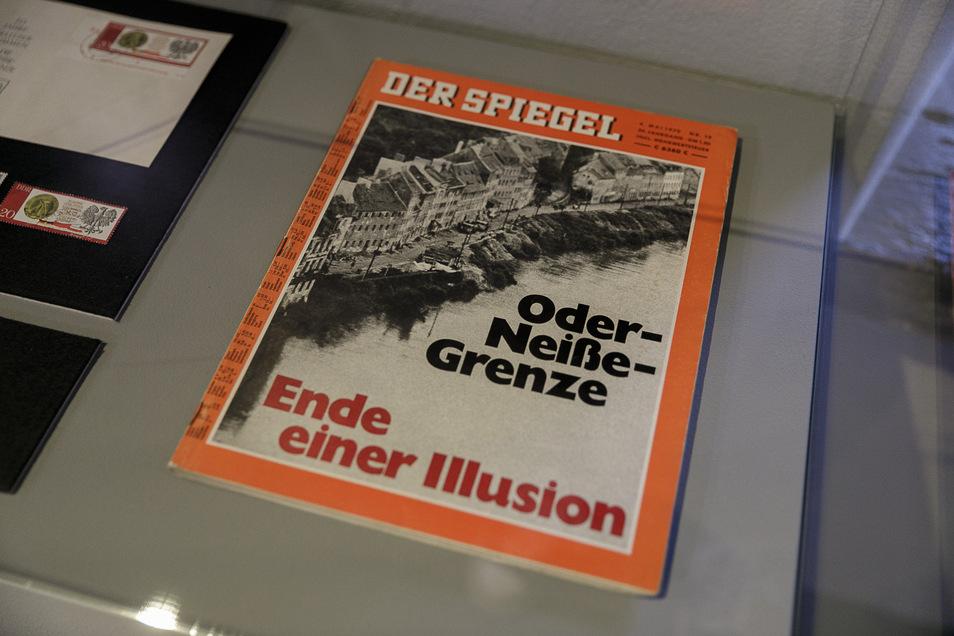 """Und auch das ist in der Ausstellung zu sehen: Das Hamburger Magazin """"Spiegel"""" widmete der Oder-Neiße-Grenze eine Titelgeschichte."""