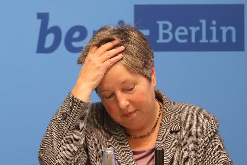 Die Berliner Senatorin Katrin Lompscher (Linke) hat ihren Rücktritt erklärt.