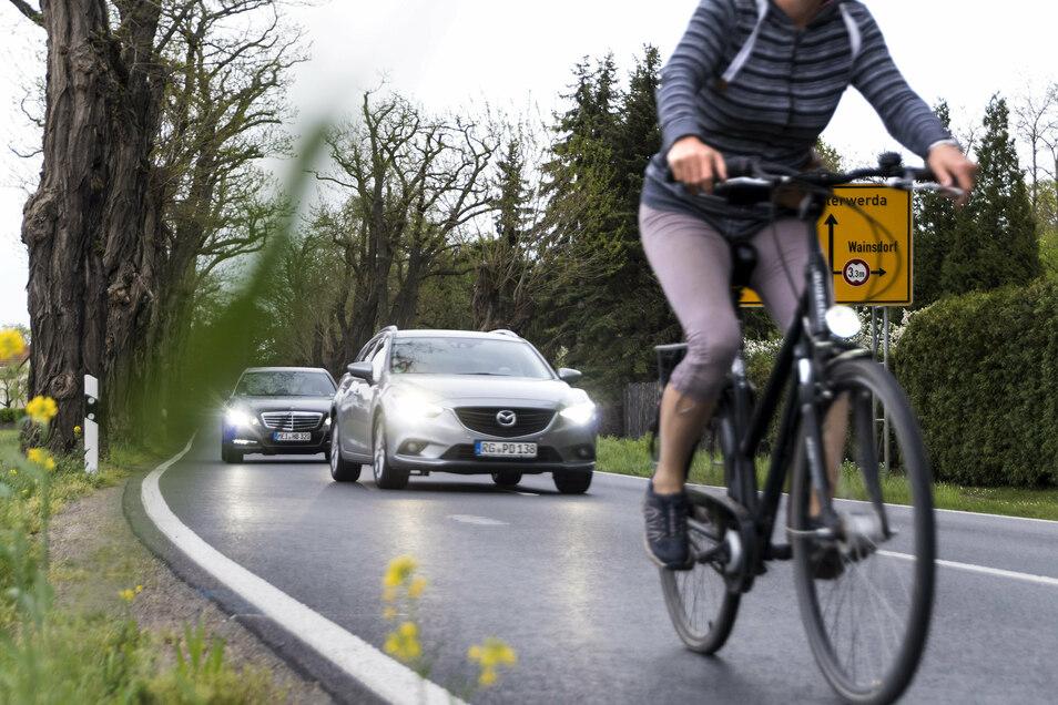 Momentan nutzen viele Radler zwischen Gröditz und Prösen die B169. Denn der seit Jahren geplante Radweg lässt noch immer auf sich warten.