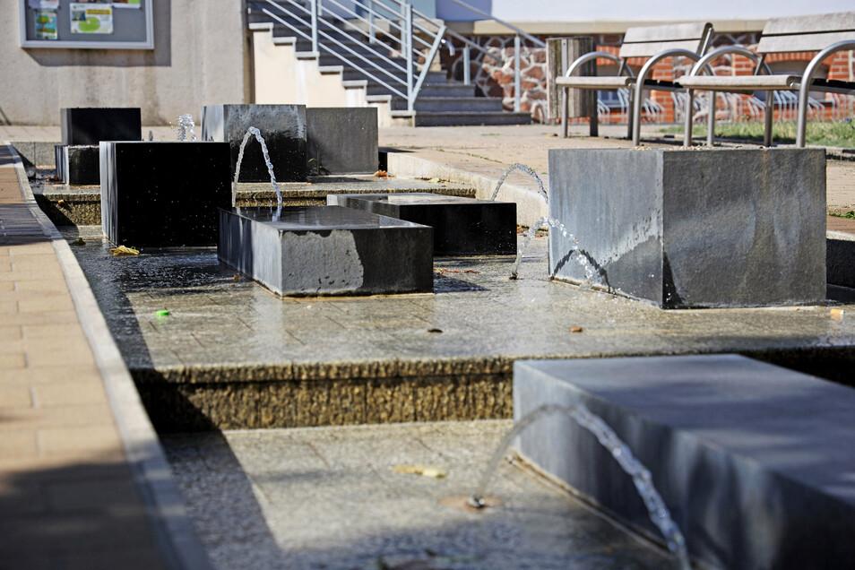 Poppitzer Platz: Den Brunnen vorm Museum gibt es seit dem Jahr 2008.