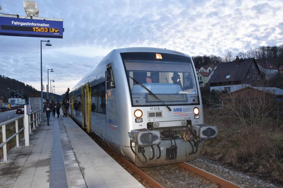 Auf der Müglitztalbahn gibt es derzeit Probleme im Bahnverkehr.