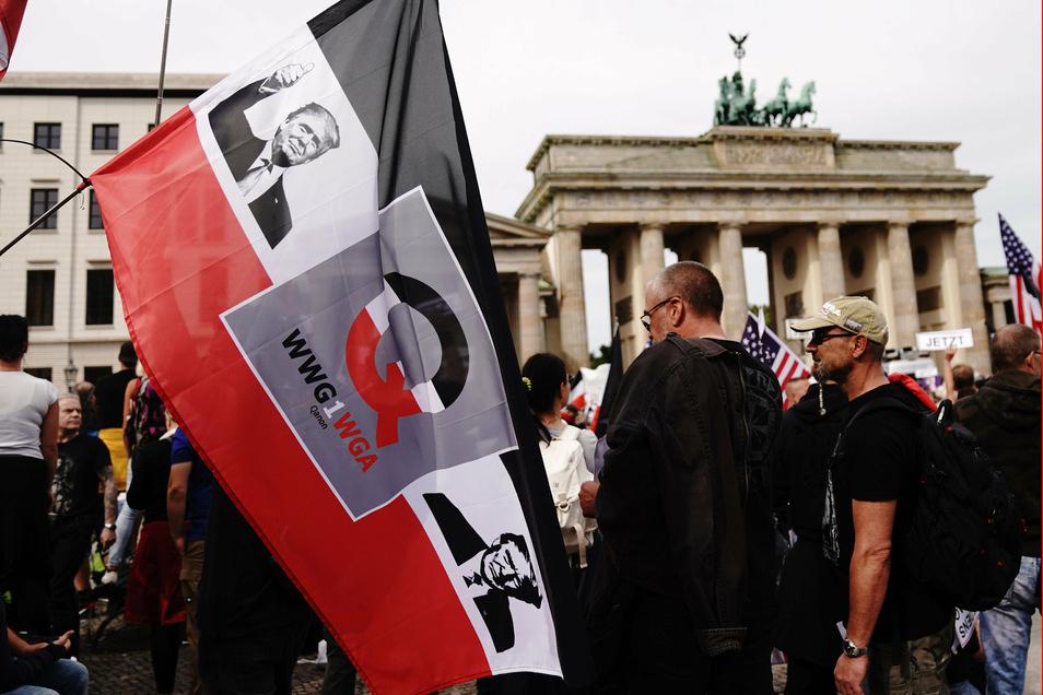 Teilnehmer einer Demonstration in Berlin.
