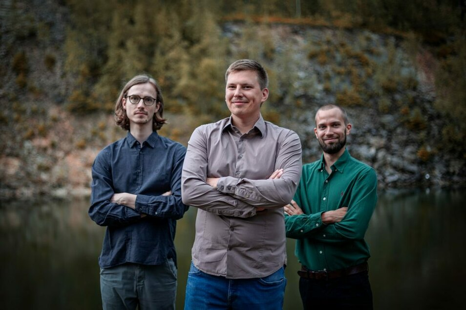Gründerteam von PharmAI: Christoph Leberecht (l.), Joachim Haupt und Florian Kaiser.