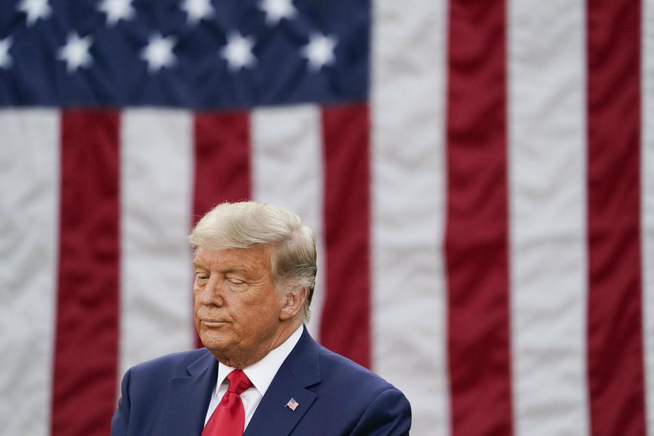 US-Präsident Donald Trump ließ am Freitag erstmals Zweifel an der bisher von ihm demonstrierten Siegesgewissheit erkennen.