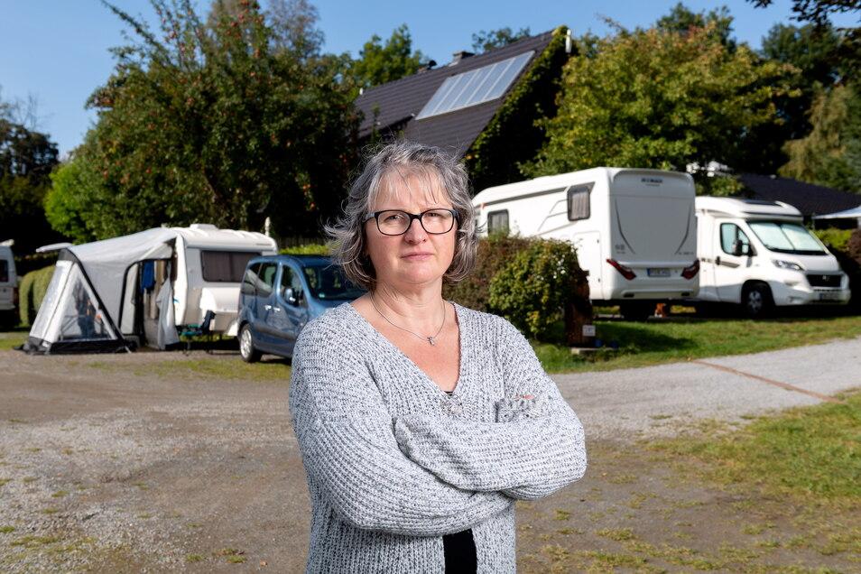 Petra Peh vom Campingplatz Thorwaldblick in Hinterhermsdorf ist mit dem Restart zufrieden.