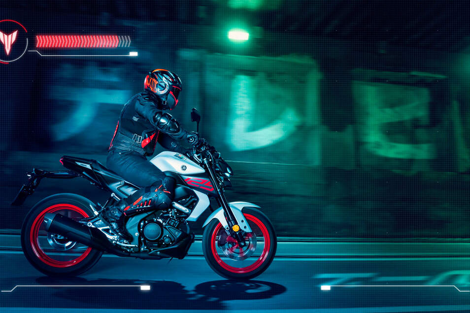 Yamaha MT-125: Die neue MT-125 besitzt einen neuen Motor den man bereits aus der YZFR125 kennt und eine variable Ventilsteuerung, welche für eine eine höhere Spitzenleistung zwischen 7.400 U/min und 10.000 U/min (Maximalleistung) - 1.000 U/min mehr gegenüber der vorherigen Konstruktion bringt.