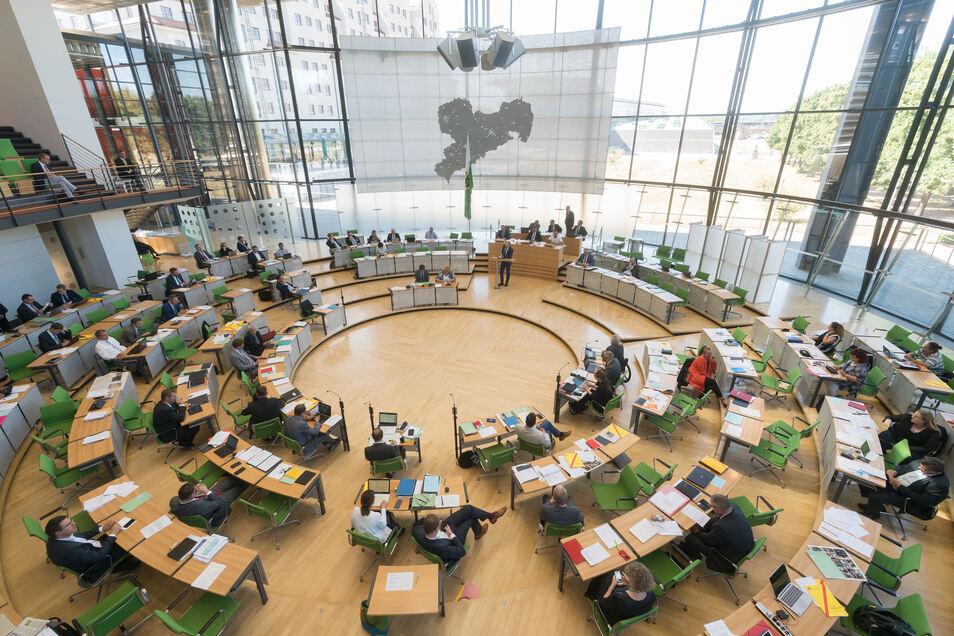 Blick in den Plenarsaal.