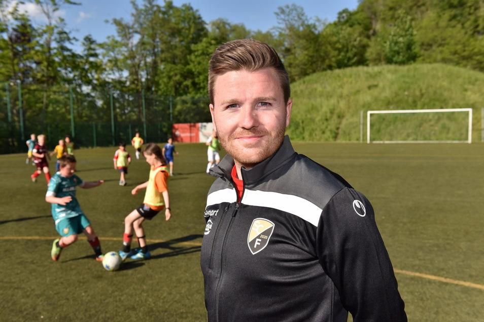 Paul Leiteritz leitet als Geschäftsführer den größten Sportverein im Landkreis, den SC Freital.