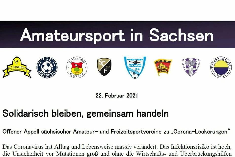Acht Vereine starteten am Montag den Appell.