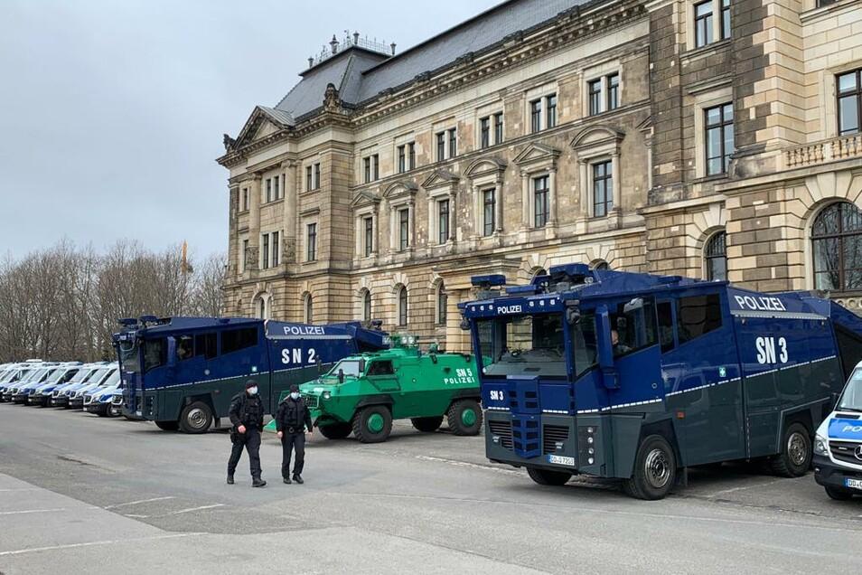 Demo in Dresden.