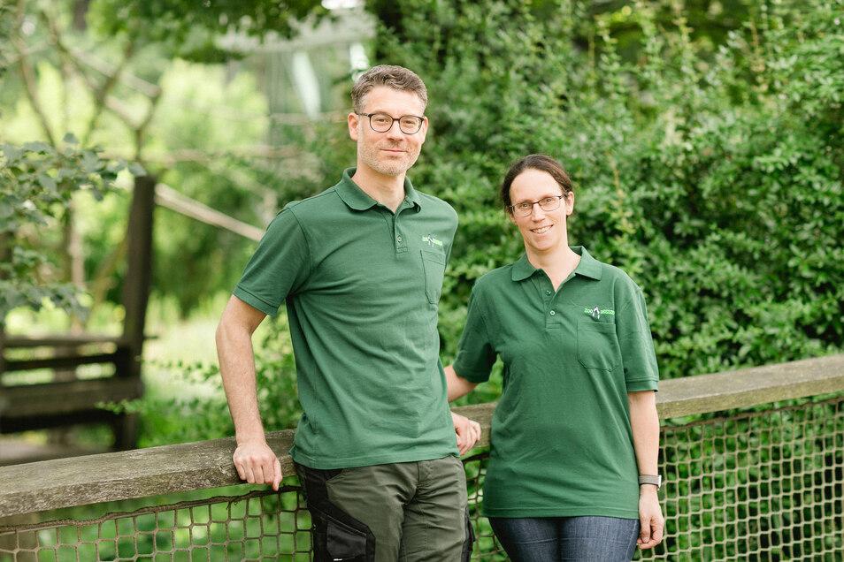Die Tierärzte Dr. Dimitri Widmer und Eva Ziemssen