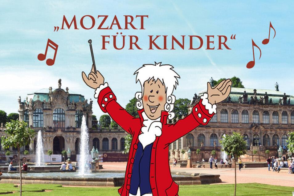 Mozart für Kinder heißt es am Samstag im Zwinger.