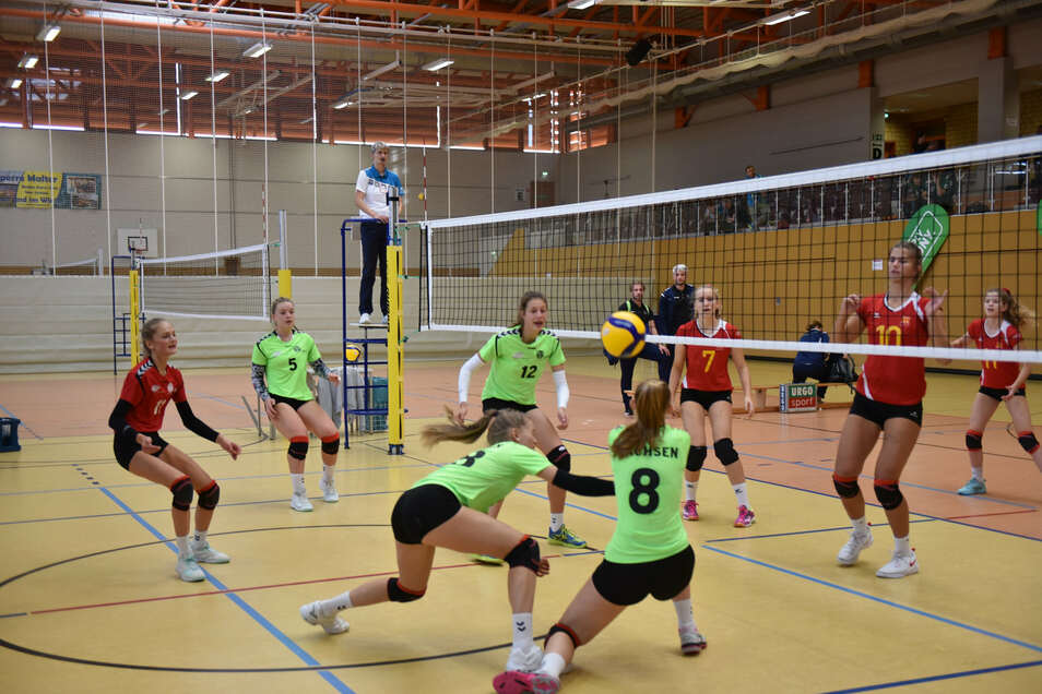 Hier war der Sportpark Dippoldiswalde Austragungsort für den Volleyball-Bundespokal.