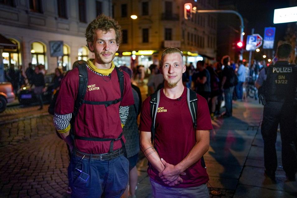 Nachtschlichter Pepe und Florian.