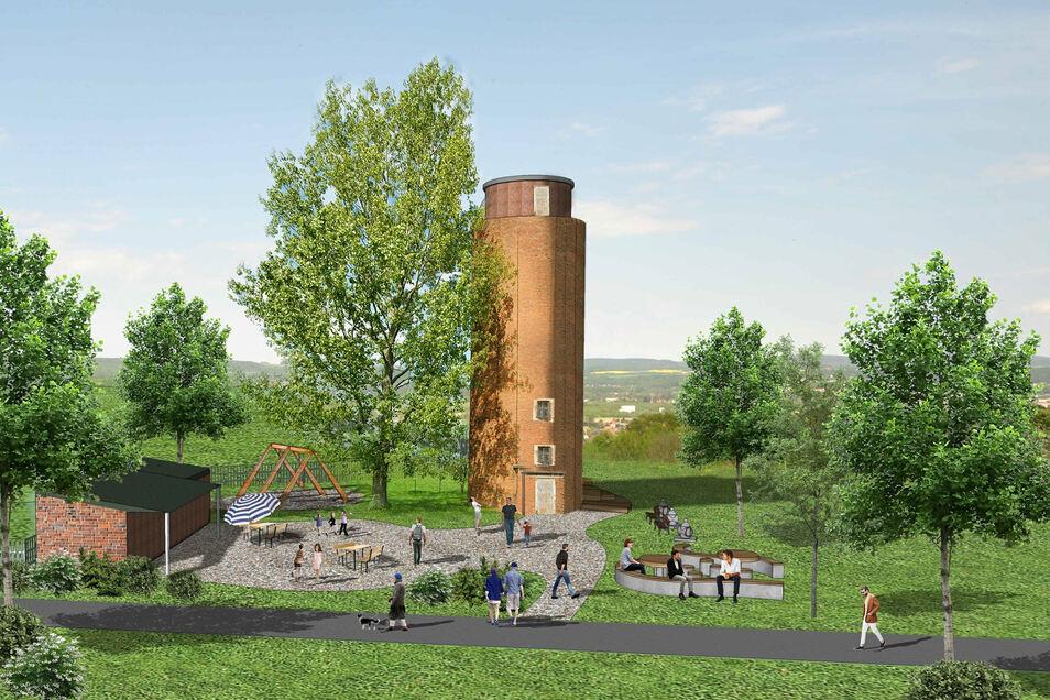 So sehen die ersten Ideen für das Wasserturm-Areal aus.