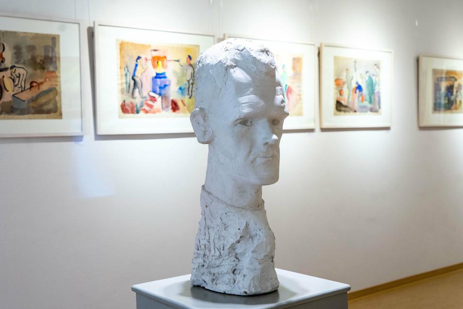 Eine Skulptur Carl Lohses, geschaffen vom Künstler selbst.