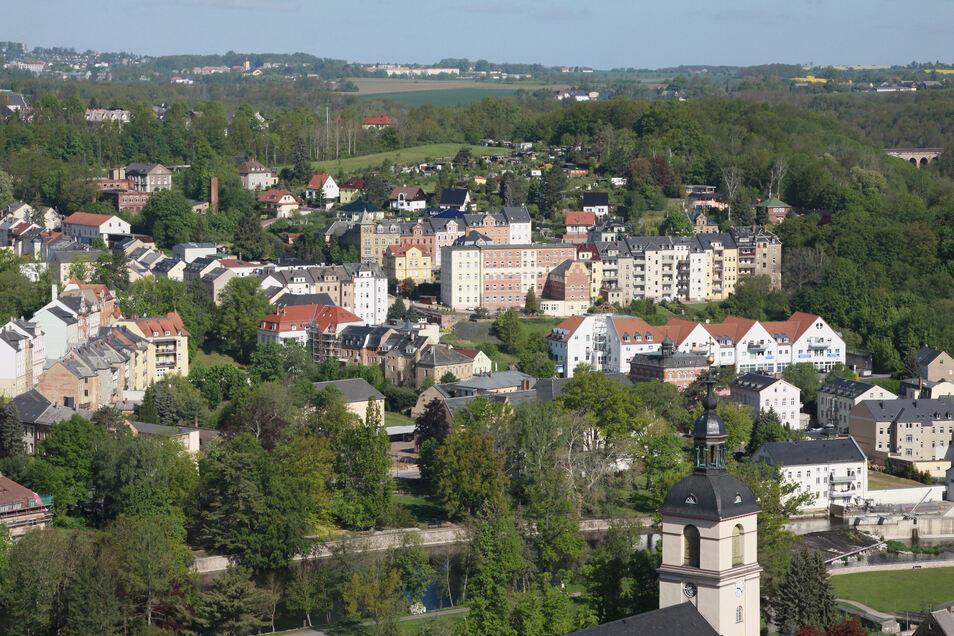 Vom Wachbergturm kann man Waldheim wunderbar überblicken.