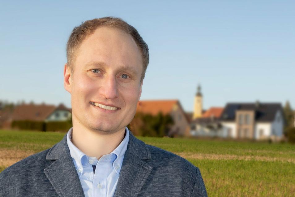 Thomas Perjak kandidiert für die Wählervereinigung Elstertal für das Bürgermeisteramt in Oßling.