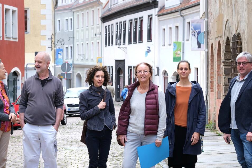 Sechs Meißner - ein Ziel: Christina Koenig, Andreas Ehret, Tina Hopperdietzel, Silvia Klöde, Sara Engelmann und Olaf Fieber möchten die Görnische Gasse in eine Kunstmeile verwandeln.