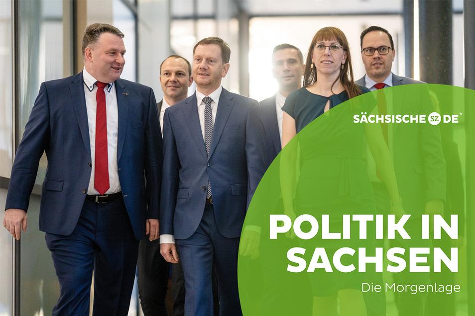 Die Differenzen in Sachsens Regierungskoalition aus CDU. Grünen und SPD werden derzeit deutlicher.