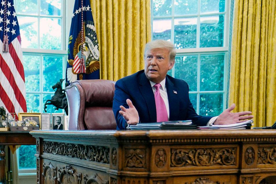 """Donald Trump: """"Ich werde nicht verlieren, denn das sind gefälschte Umfragen"""""""