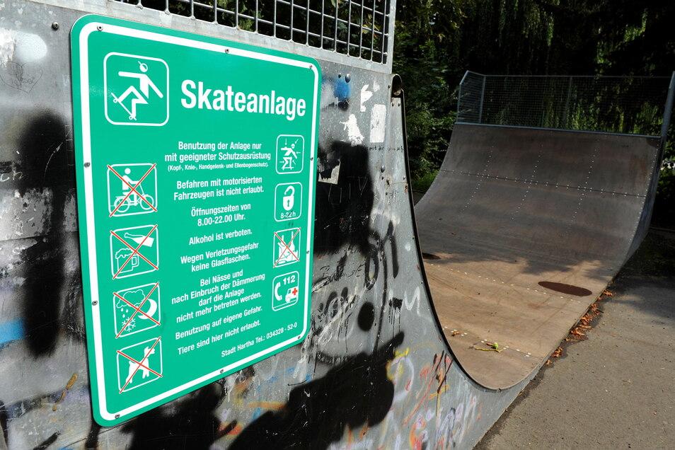 Auf dieser Skateranlage in der Harthaer Sonnenstraße soll sich der Vorfall am Dienstagabend ereignet haben.