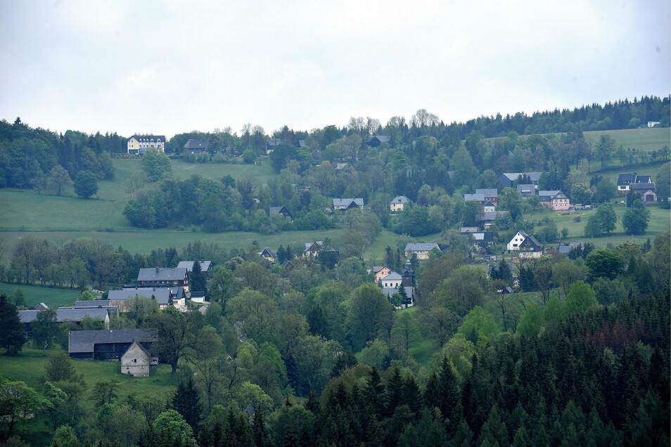 Schönfeld ist einer der Ortsteile von Dippoldiswalde, die vom Breitbandausbau profitieren, der im Mai beginnen soll.