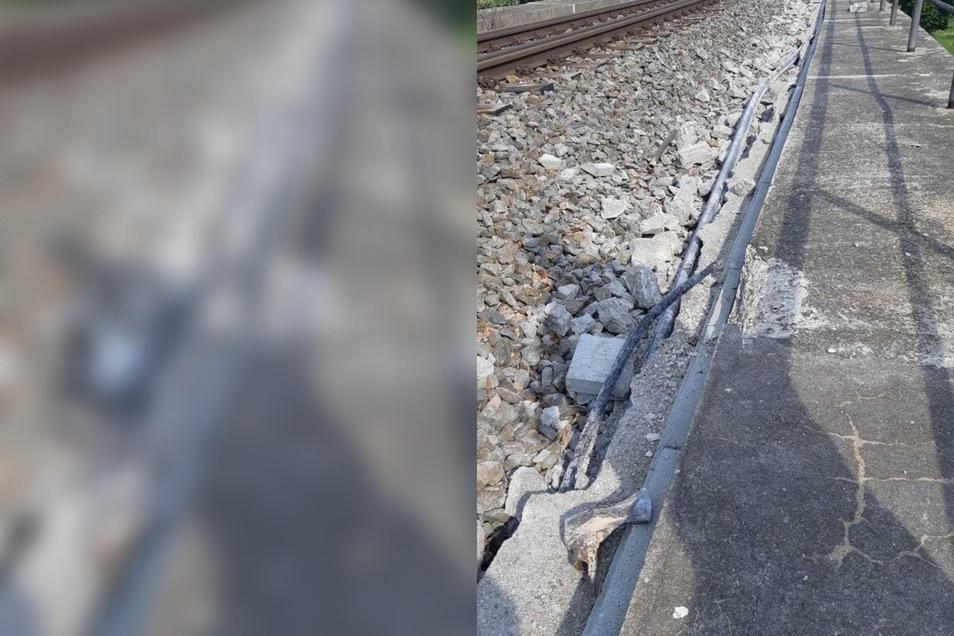 Unbekannte haben Kabel an den Gleisen entwendet.