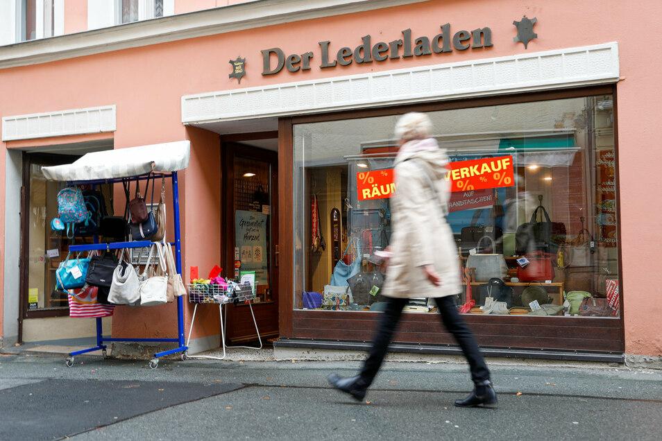 """Auch den """"Lederladen"""" in der Bautzner Straße gibt es nicht mehr."""