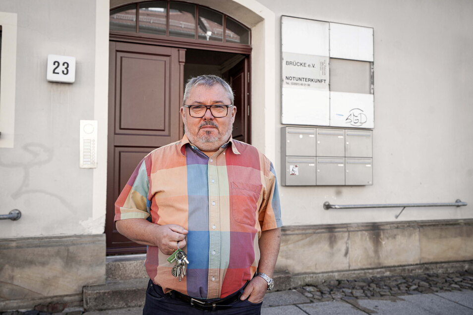 """Matthias Nagel ist Geschäftsführer des """"Brücke e.V. – Gefährdetenhilfe im Raum Bautzen"""". Vor allem in der Notunterkunft, sagt er, müssen die Mitarbeiter immer häufiger die Polizei rufen. Aber nicht nur in dem Projekt gibt es Probleme mit drogenabhängigen"""