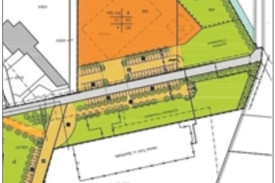 Die Stadt plant für die Sporthalle zumindest einen zeitgemäßen Ersatzbau. Er soll gegenüber entstehen, wo heute noch ein Acker ist
