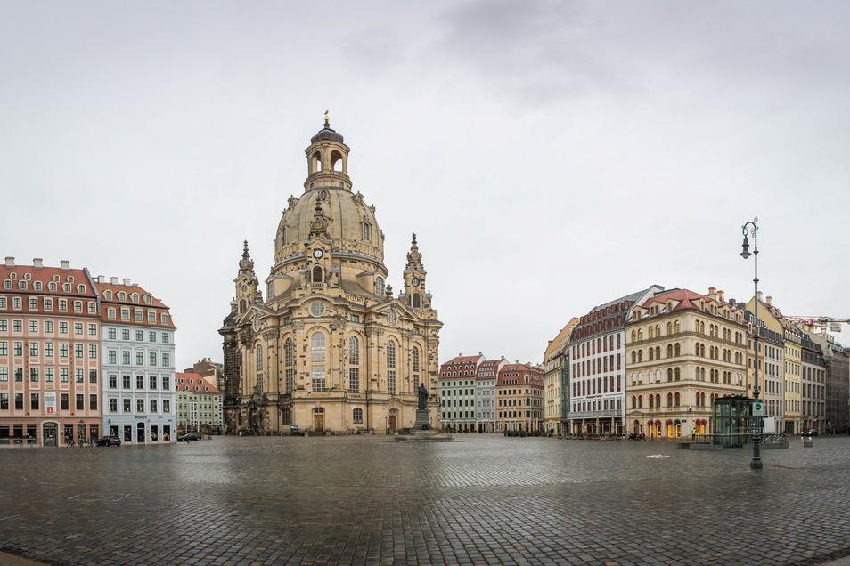 Es tut sich viel: Rings um die Frauenkirche sind in den vergangenen Jahren die Barockbauten nach altem Vorbild neu entstanden.
