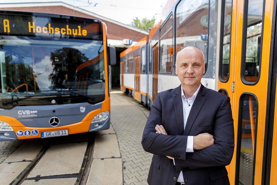 Andreas Trillmich stand seit Oktober 2018 an der Spitze der Görlitzer Verkehrsbetriebe.