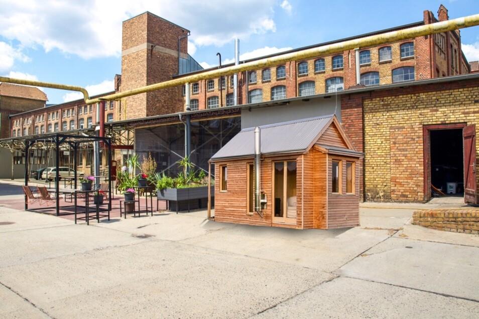 An der Hafenstube entsteht das Mitmach-Café im umgebauten Container. Hinzu kommen Tiny Houses.