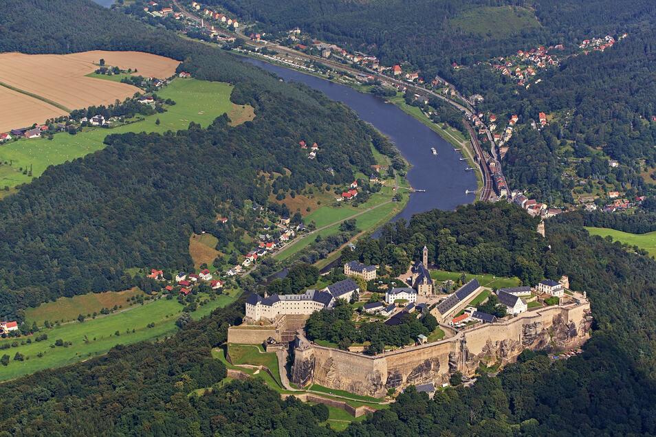 Die Bäume auf der Festung in Königstein leiden unter Trockenheit.